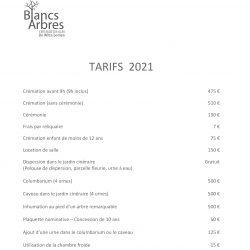 Tarif fr 2021-JDE